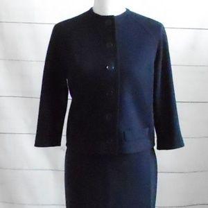 1950s Navy Blue Skirt Suit